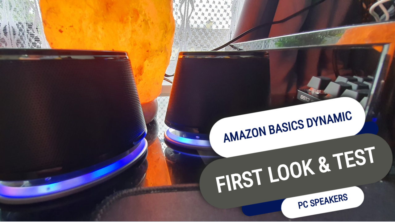 First Look At The Amazon Basics Dynamic USB Speakers